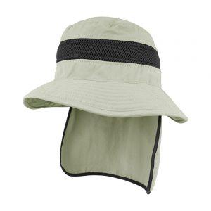 כובע רחב שוליים כולל מגן עורף דגם 7211