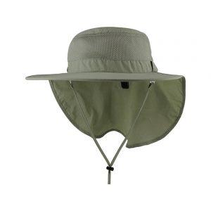 כובע רחב שוליים מגן פנים כולל מגן עורף דגם 7243