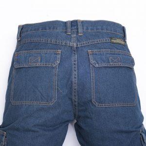 מכנסי דגמח ג'ינס חגורה