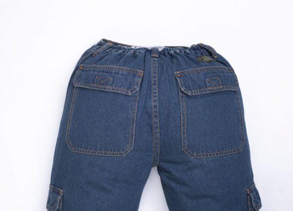 """מכנסי דגמ""""ח ג'ינס גומי"""